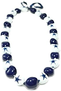 NFL Dallas Cowboys Go Nuts Kukui Nut Lei Necklace