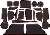 Alfombras para Consola Central Portavasos para Suzuki S.Cross SX4 2017-2020, alfombrilla de almacenamiento Alfombrillas Antideslizantes de Goma Coche accesorios de interior