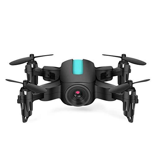 ZHCJH RC Mini Drone 720P Cámara HD, Control Remoto Plegable Quadrocopter WiFi FPV Micro Pocket RC Helicóptero Juguetes, 1080P Negro