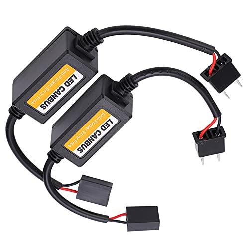 Aoer Decodificador LED, Decodificador de Bus Canbus Fácil de Instalar y Usar Cancelador de Errores para H7 con Resistencia de Carga y Alarma de Falla para detección de fallas de vehículos