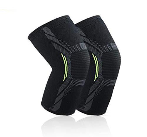 JOEPET Compression Knee Sleeve - Best Knee Brace for Men & Women – Best Neoprene Stabilizer Wrap,Football Basketball, Table Tennis, Cycling - One Pair,M