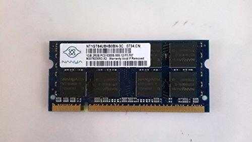 1 GB DDR2 SODIMM 200pin PC2-5300 667 MHz CL5 Nanya NT1GT64U8HB0BN-3C - Artículo Caliente Este Mes