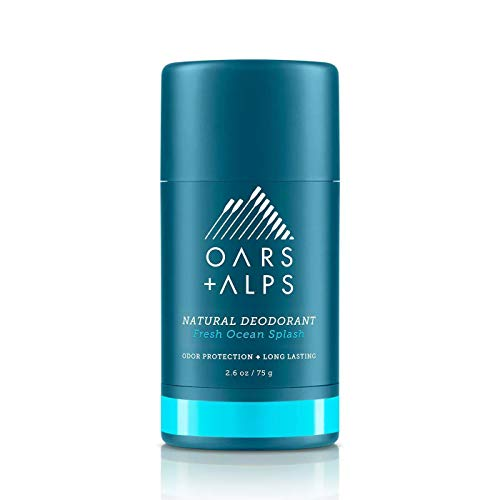 Oars + Alps Natural Deodorant for Men and Women, Aluminum Free and Alcohol Free, Vegan and Gluten Free, Fresh Ocean Splash, 1 Pack