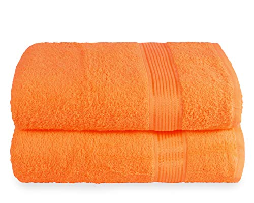 Elvana Home Cotton 2 Pack Oversized Bath Towel Set 28x55...