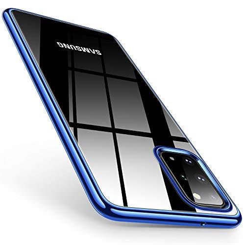 TORRAS Crystal Clear S20 Plus Case, [Anti-Yellow] Galaxy S20 Plus Case, Ultra Thin Slim Soft Shockproof Cover Designed for Samsung Galaxy S20 Plus Case, Glossy Blue