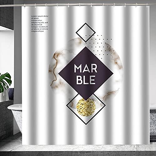 XCBN Verdickter Duschvorhang Geometrische Buchstaben Duschvorhang Badezimmer, groß & breit Größe A3 150x200cm