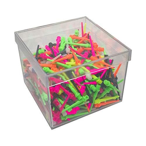 Boîte de 500 pointes de fléchettes en plastique résistantes et...