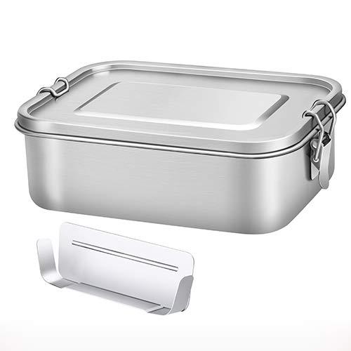 G.a HOMEFAVOR 1200 ML Lunchbox Vesperdose Dichte Brotdose aus Edelstahl, Bento Box inkl. Herausnehmbarer Trennsteg
