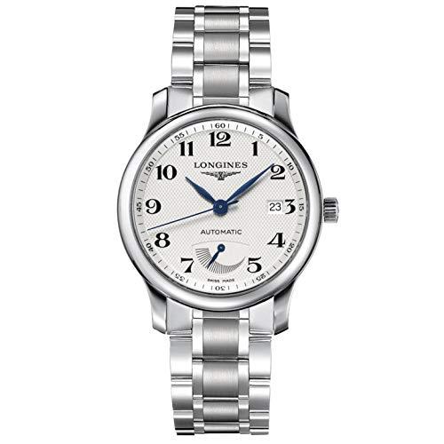 Longines orologio The Longines Master Collection 38,5mm bianco acciaio uomo...