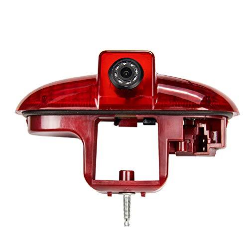 Telecamere posteriori nella terza luce di stop incl. Cavo di 10m con la luce di arresto spaccatura per FIAT Talento Nissan Primastar Renault Trafic, Opel Combo,Vauxhall Vivaro (2001-2014)