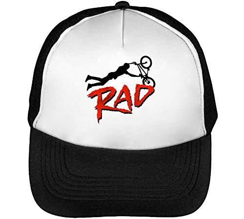 BMX RAD Stunt Gorras Hombre Snapback Beisbol Negro Blanco One Size
