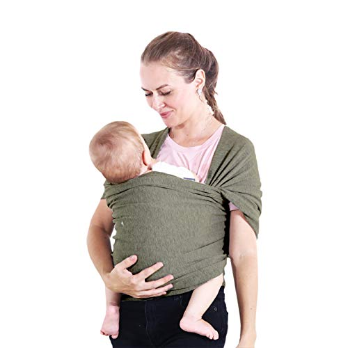 Baby Wrap Carrier – Easy-to-Use Universal Baby Wrap – Ideal Baby Slings for Newborns Babies and Children up to 35lbs – Baby Wearing Carrier in a Gift Box – Perfect Babyshower Gift Wrap - Dark Gray
