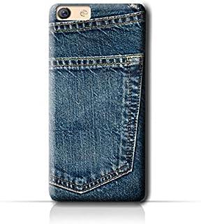 AMC Design Oppo F3 Jeans Pocket Pattern Case - Blue