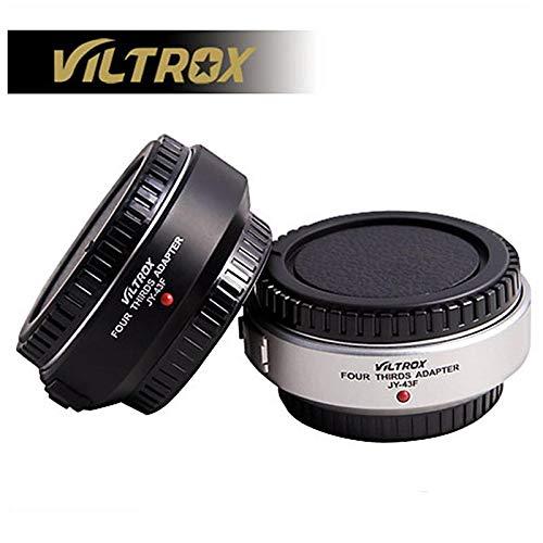 VILTROX Auto Focus M4/3 - Adaptador de Objetivo a Micro 4/3 para cámara Olympus Panasonic E-PL3 EP-3 E-PM1 E-M5 GF6 GH5 G3 DSLR