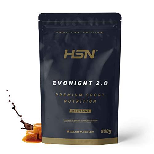 Mezcla de Proteínas Evonight 2.0 de HSN   Proteína para Antes de Dormir   Con Whey Protein + Proteína de Leche + Caseinato de Calcio + Whey Protein Isolate + Albúmina de Huevo   Choco-Caramelo, 500g