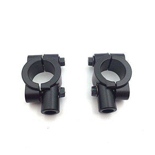 HTTMT MT-JINGZUO-002-25-BK Group Black 1 Inch 25mm Motorcycle HandleBar 10mm Mirror Thread Mount Holder Clamp Adaptor