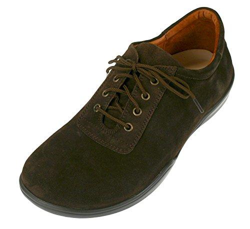 Footprints By Birkenstock PADUA Leather Lace up Shoe (38 EU/US Women 7/US Men 5, Suede Mocha)