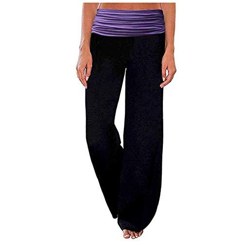 OYSOHE Damen Bequem Hose mit weitem Bein High Waist Lose Beiläufig Palazzo Lounge Yoga Hose für Damen