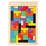 Kentop Tetris Tangram - Puzzle educativo de madera para niños