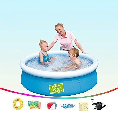 HLJ Piscina Inflable 152X38cm, Inflable for niños Piscina, jardín al Aire Libre Inicio Niños Engrosamiento de Protección Ambiental de PVC Piscina for niños