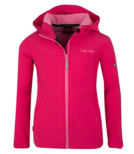 Preisvergleich Produktbild Trollkids Mädchen Oppland Softshell Jacke,  Magenta / Rosa,  Größe 164