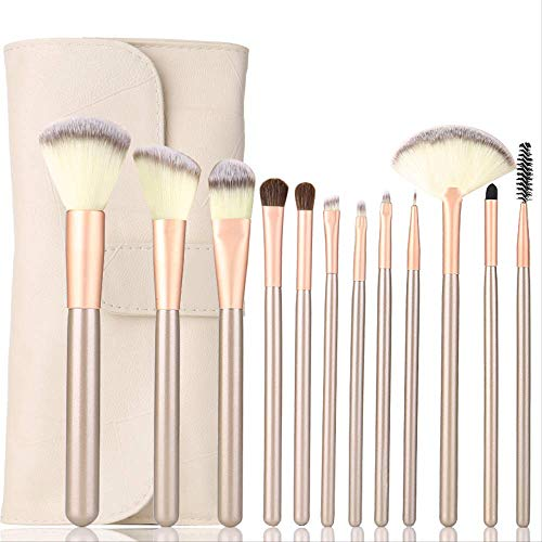 Professionnel Synthétique Maquillage Maquillage Maquillage Cosmétique Maquillage Fondation Eyeshadow Foundation Brush Brush Kits 12 Pièces
