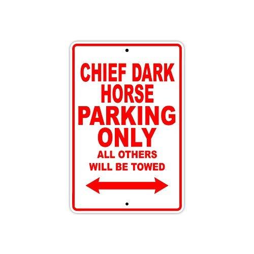INDIAN CHIEF DARK HORSE Parking Alleen Alle Anderen zal worden getrokken Motorfiets Nieuwigheid Garage Aluminium Teken 10