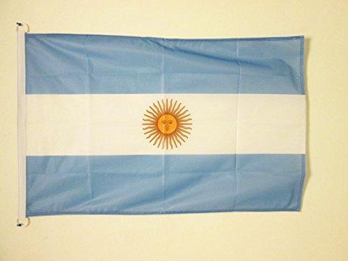 AZ FLAG Flagge ARGENTINIEN 90x60cm - ARGENTINISCHE Fahne 60 x 90 cm Aussenverwendung - flaggen Top Qualität