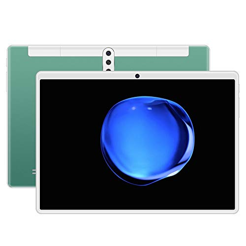 BHGFU Tablet PC 10.1' Inch Android 9.0 Tablet 4G Unlocked Phablet 8GB RAM 512GB Storage with Dual sim Card Slots and Cameras,Tablet PC with WiFi,Bluetooth,GPS (Color : Green)