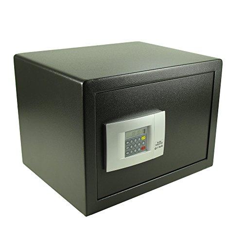 Burg-Wächter Hoteltresor mit elektronischem Zahlenschloss, Point-Safe, 38,8 l, 20,5 kg, P 3 E KA 4, Schwarz