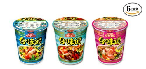 Nissin Seafood 3 Flavor Variety Combo Instant Authentic HK Japanese Ramen Cup Of Noodles Soup (6 Pack)