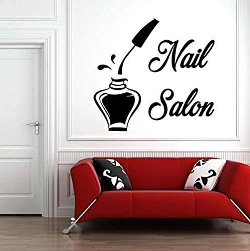 Muurstickers Art Decal Vinyl Murals Nagel Salon Schoonheid Nagel Haarverzorging Barber Mode Meisjeskamer Verwijderbaar 60X57cm