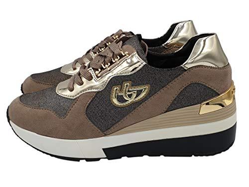 Blu Byblos Sneaker Scarpa Articolo 687281 Made in Italy Nuova Collezione Inverno 2018-19 (40, Tortora)