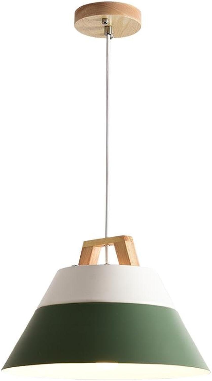 Hdmy Nordic Grün Kronleuchter Kreative Persnlichkeit Einfache Bar Schlafzimmer Lampe Cafe Restaurant Single Head Holz Kunst Macaron Kronleuchter Pendelleuchte Deckenleuchte