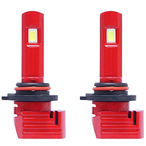 Mogzank 1 Par Rojo X11 LED Bombillas para Faros Delanteros de Coche 9005 LáMparas LED para Coche con 6500K 1860 CSP LED Chip 72W 10000LM