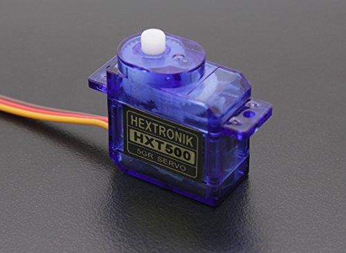 Hextronik HXT500 6.2g / 0.6kg / 0,08 sec extrem schnelles Micro Servo für Shockflyer, Parkflyer, Indoor und viele andere kleine Modelle von Modellbau Eibl
