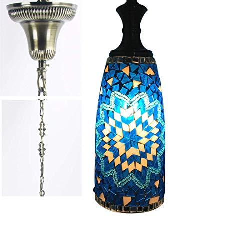 WWKDM Lámpara Colgante de Mosaico Turco Bohemia Luces Colgantes mediterráneas Luces Colgantes de Cristal Hechas a Mano marroquíes Vintage para Pasillo Dormitorio Balcón Café, A Good Stuff