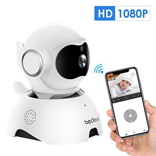 1080P WLAN IP Kamera, bedee FHD WiFi Überwachungskamera Innen, Babyphone über Handy, Haustier/Zuhause Monitor mit Bewegungserkennung, Zwei-Wege-Audio, IR Nachtsicht und Mobile App Kontrolle