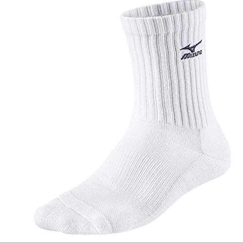 Mizuno Volleyball Socks Medium, - Weiß/Navy. - Größe: 35-37