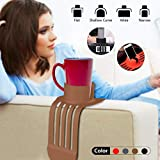 Sofa Cup Holder,The Ultimate Anti-Spill Drink Holder Couch Coaster Holder Drink Organizer Food Grade Removable Silicone Drink Holder for Your Sofa Brown