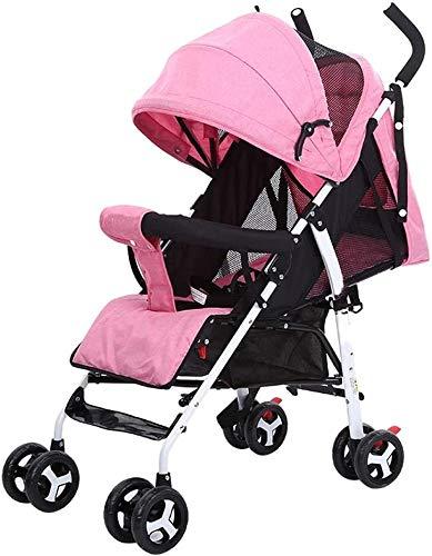 DAGCOT Cochecito cochecito de bebé puede sentarse y acostarse ligero y fácil de plegar Niño Bebé Durmiente del bebé puede engranar Lay sueño de verano de bienvenida al bebé de la carretilla