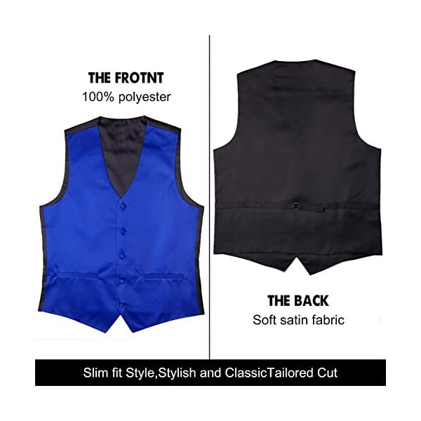 Cyparissus Mens Vest Waistcoat Men's Suit Dress Vest for Men or Tuxedo Vest