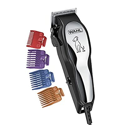Wahl Clipper Pet-Pro Dog Grooming Kit - Quiet Heavy-Duty Electric Corded Dog Clipper for Dogs & Cats with Thick & Heavy Coats - Model 9281-210 by Wahl Clipper Corp.