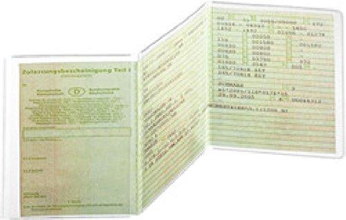 Ausweishülle KFZ-Schein 3-teilig 105x210mm,PP 180my,dokumentenecht