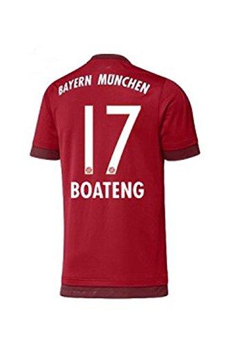 FC Bayern Home Trikot Herren 2016 - Boateng 17, Größe:L