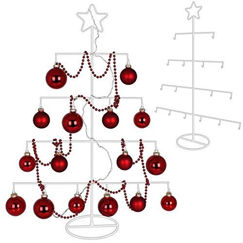 TW24 Metall Weihnachtsbaum mit Stern 76cm für Zierschmuck Stern Christbaum Deko Tannenbaum Weihnachtsdeko Metallbaum