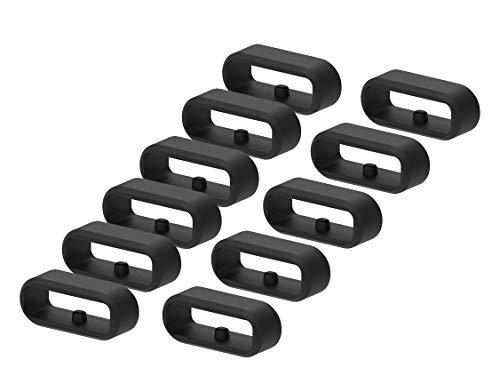 Tencloud - Anelli di fissaggio compatibili con Garmin Venu Fasteners Security Loop Holder Keeper Retainer di ricambio in silicone per Venu/Venu Sq/Vivomove 3/Vivomove Luxe/Style Smartwatch