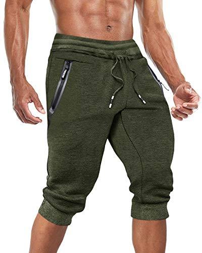 BIYLACLESEN Mens 3/4 Shorts Capri Shorts for Men Capri Jogger Mens Sweatpants Lightweight Pants Athletic Pants for Men Jogger Pants Men