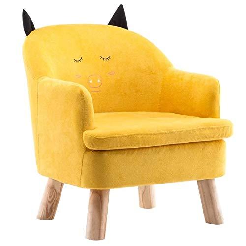 Kinder Sofa Junge Mädchen Prinzessin Baby kleines Sofa Schlafzimmer nett faul Sofa Sitz Cartoon kleines Sofa-Yellow-4