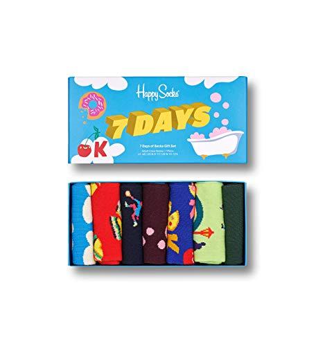 Happy Socks 7 Day Gift Set Calzini, Multi, 41-46 Uomo